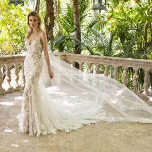Enzoani Mermaid Kleid, Brautkleid, enges Hochzeitskleid
