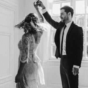 Tanzen, Hochzeit, Brautpaar, brautkleid